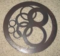 Circles in Circle-Metal Wall Art-Geometric Home