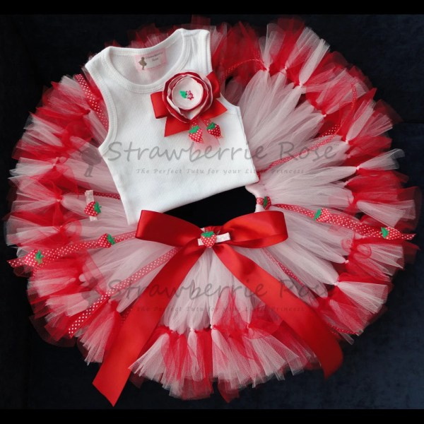 Strawberry Shortcake Birthday Dress Tutu
