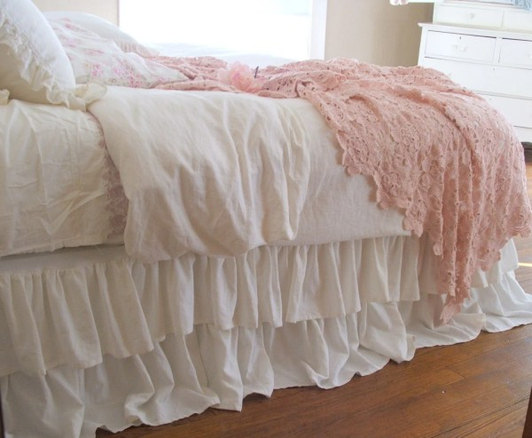 Shabby Chic Dust Ruffle Bed Skirt