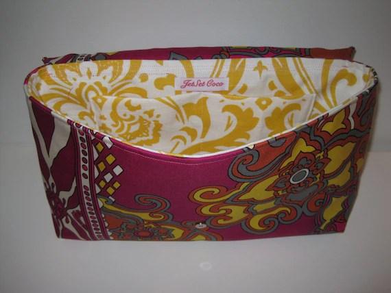 Hot Pink Silk Pucci-esque Printed Handmade Clutch