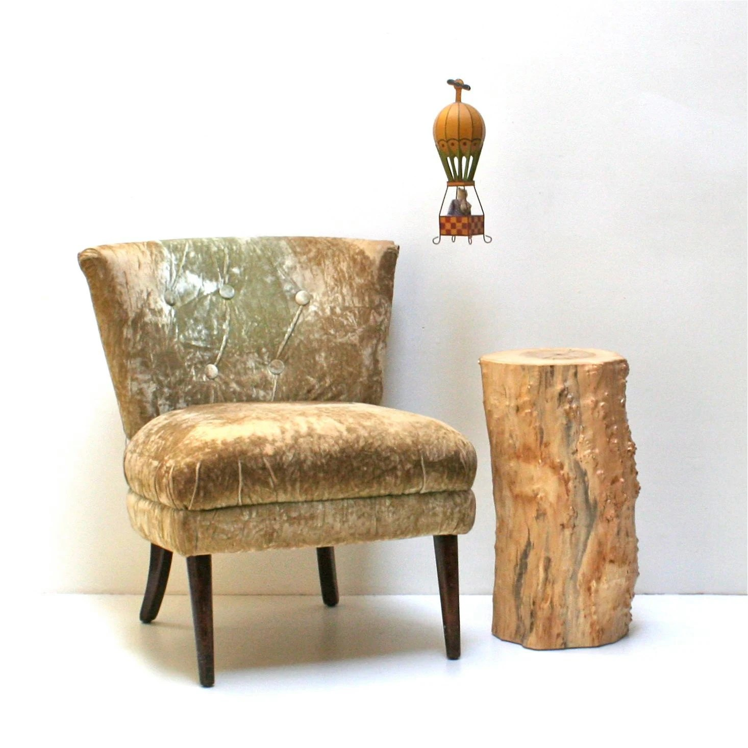 tree stump chairs folding chair diy nightstand end side table stool seat organic