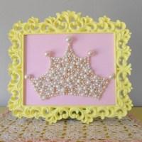 Pearl Princess Crown Art. Large Mosaic wall art. by