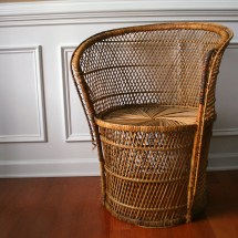 Vintage Mid Century Modern Wicker Chair
