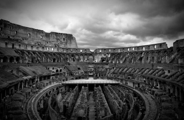 Architecture Black And White Roman Colosseum