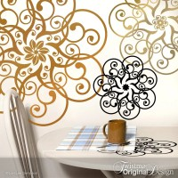 Metallic Wall Decals - metallic gold polka dot wall decals ...
