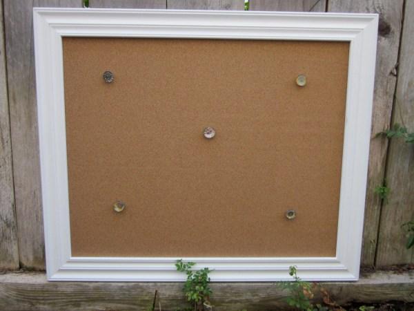 White Wood Framed Cork Board
