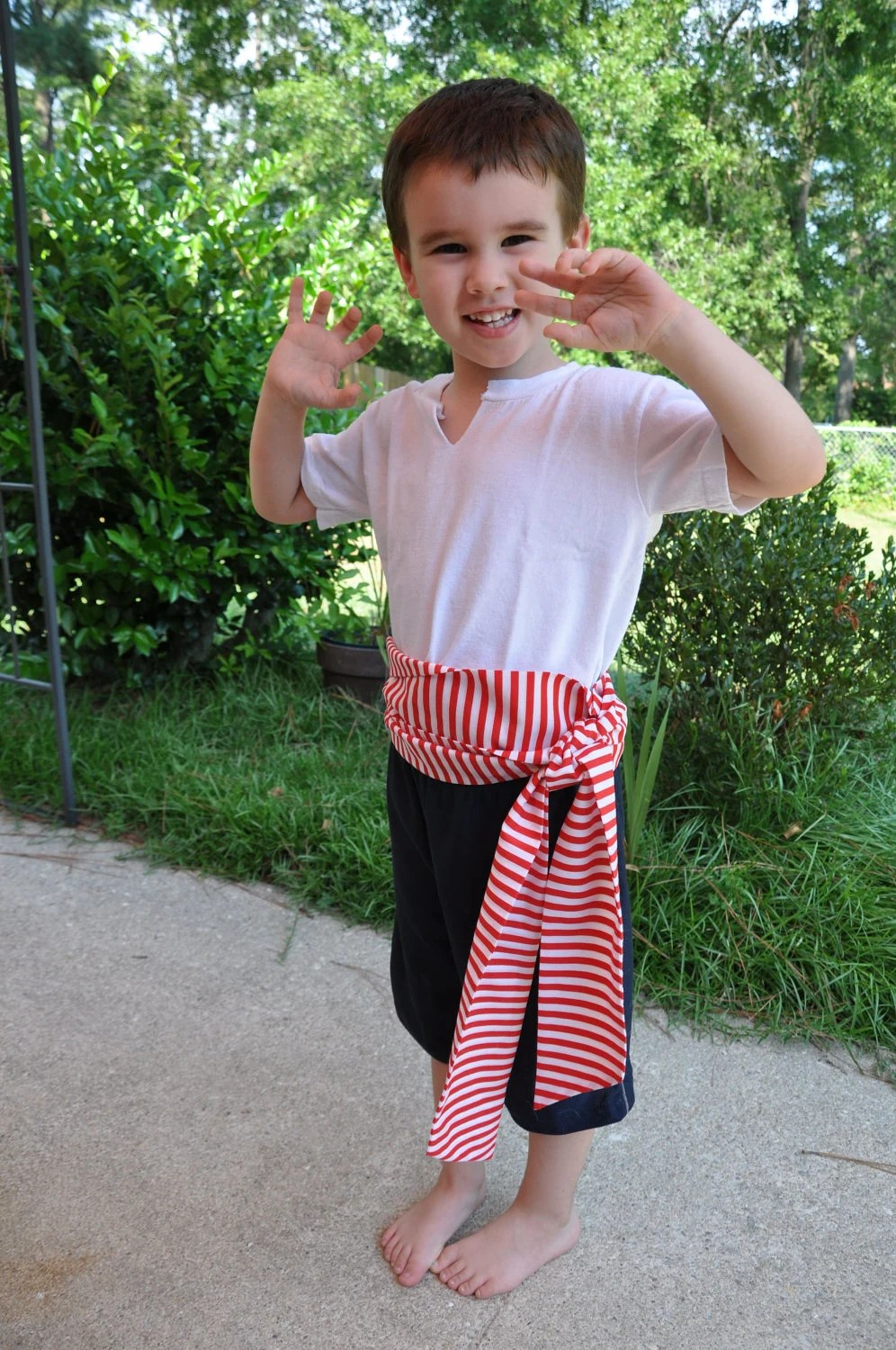 Pirate Sash- Red and White Stripes