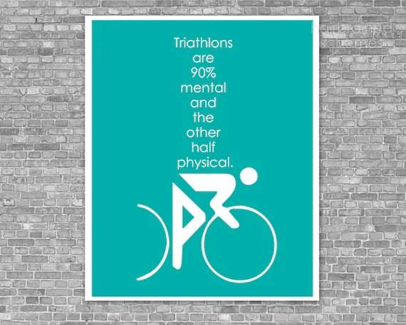 Inspirational Quotes Wallpaper In Hindi Fitness Poster Funny Triathlon Digital Art Print Swim Bike