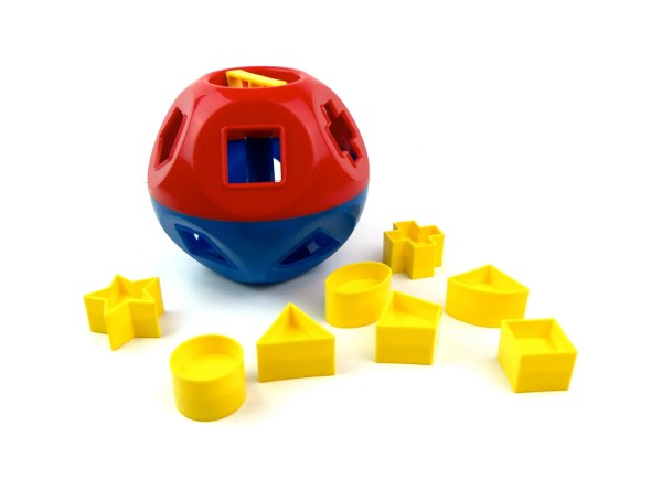 Vtg Shape- Tupperware Toy Primary Colors Children'
