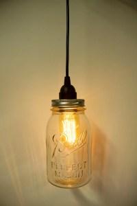 Items similar to Mason Jar Direct Wire Pendant Light Kit ...