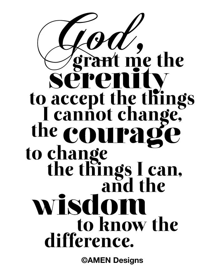 Printable Typography.Serenity Prayer. 8x10. DIY. PDF.