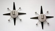 60' Mid Century Atomic Modern Design Metal Candle Wall