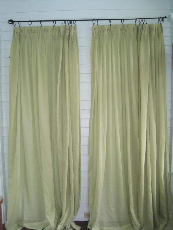 Vintage Green Curtains Pair Of Mint Sheer Xl