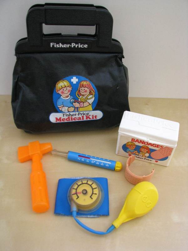 Fisher 1980s Doctor' Bag And Toy Medical Stuff