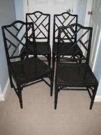 Faux Bamboo Chinese Chippendale Chairs Set of four