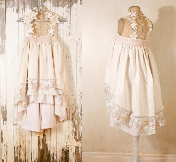 Bohemian wedding dress  Babydoll dress Beach wedding dress Bridal gown Short wedding dress Fairy dress