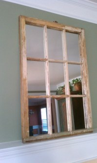 Decorative Wood Window Pane Window Sash Mirror