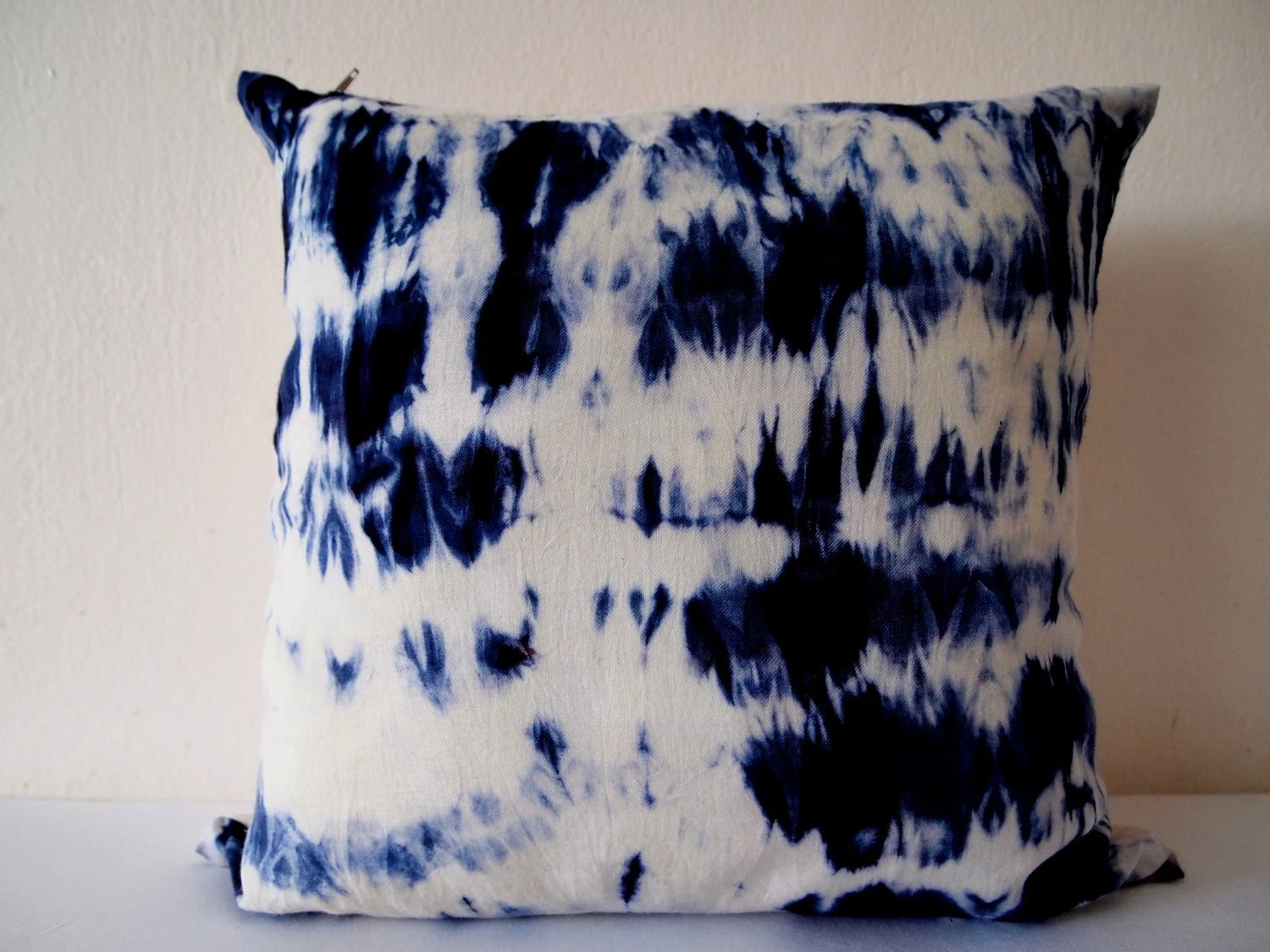 Decorative Throw Pillow Cover Dark Blue Unique Abstract