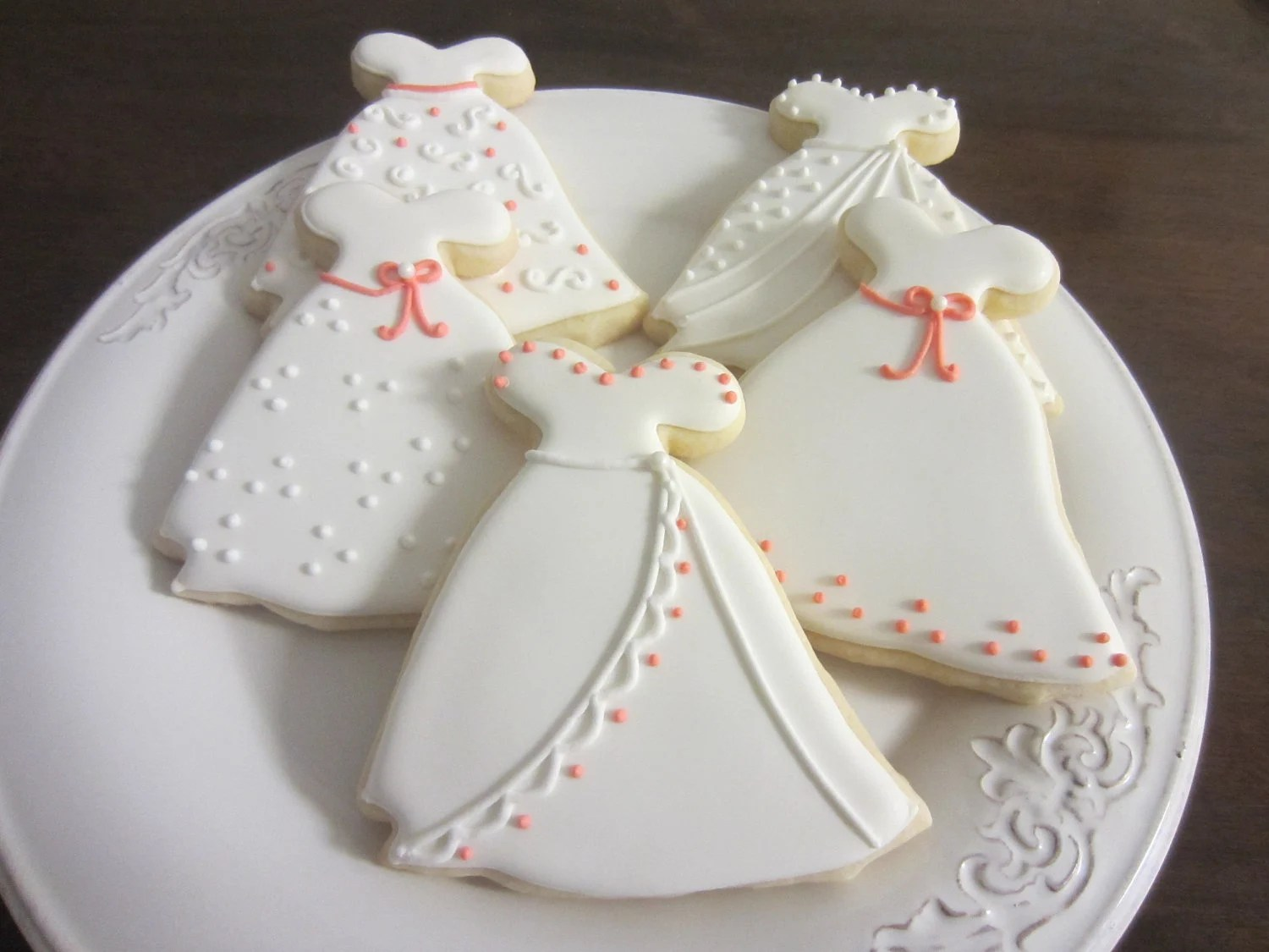 Items Similar To Decorated Wedding Dress Sugar Cookies On Etsy