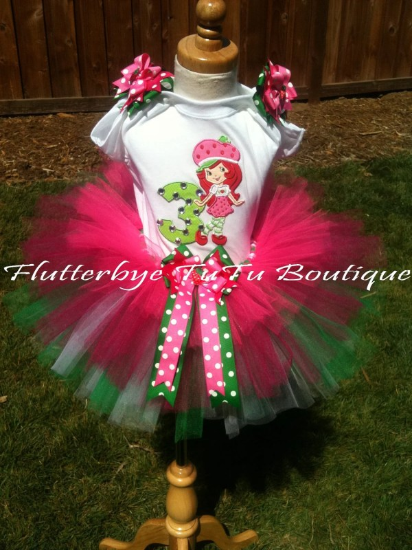 Happy Birthday Strawberry Shortcake Tutu Set Flutterbyetutu