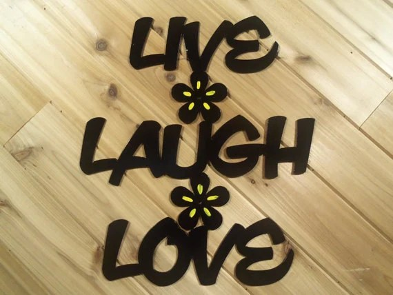 Items Similar To Live Laugh Love