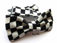 Black White Checkered Bow Tie Racing Flag Bow Tie