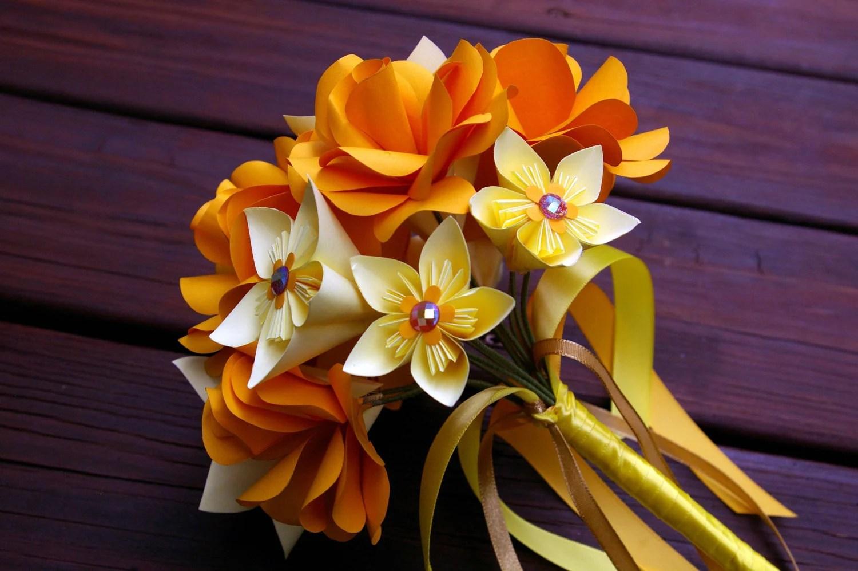Paper Flower Bouquet Wedding Origami Rose Anniversary