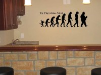 To The Man Cave Vinyl Wall Decal 6.5x20 Man Cave