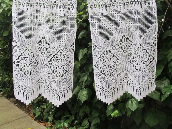 Vintage Cafe Curtain French Lace Valance Curtains