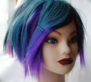 blueberry burst wig blue purple