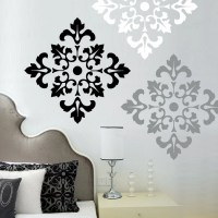Damask Pattern Wall Decal Stickers Large Wall Stickers set