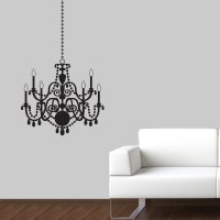 Chandelier Wall Decal Elegant Wall Sticker Chandelier