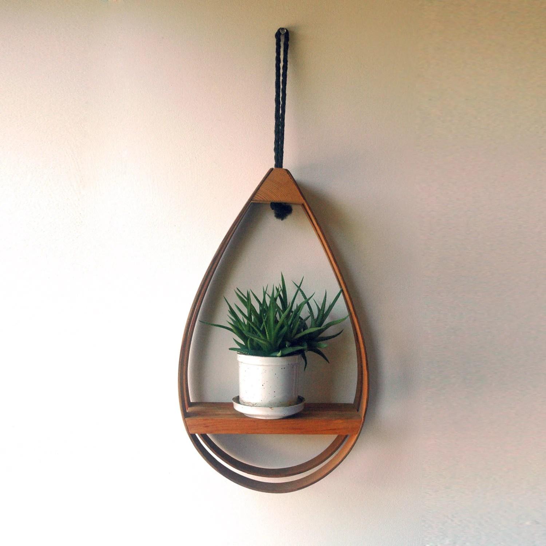 Hanging Teardrop Shelf