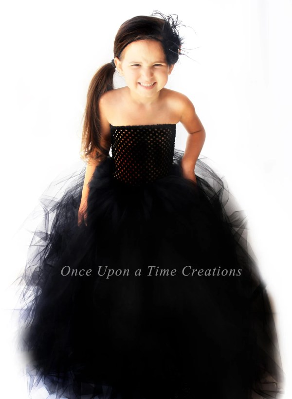 Ready Ship Stunning Black Tutu Dress Flower Girl
