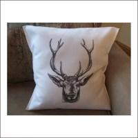 deer throw pillow cover custom throw pillow decorative throw