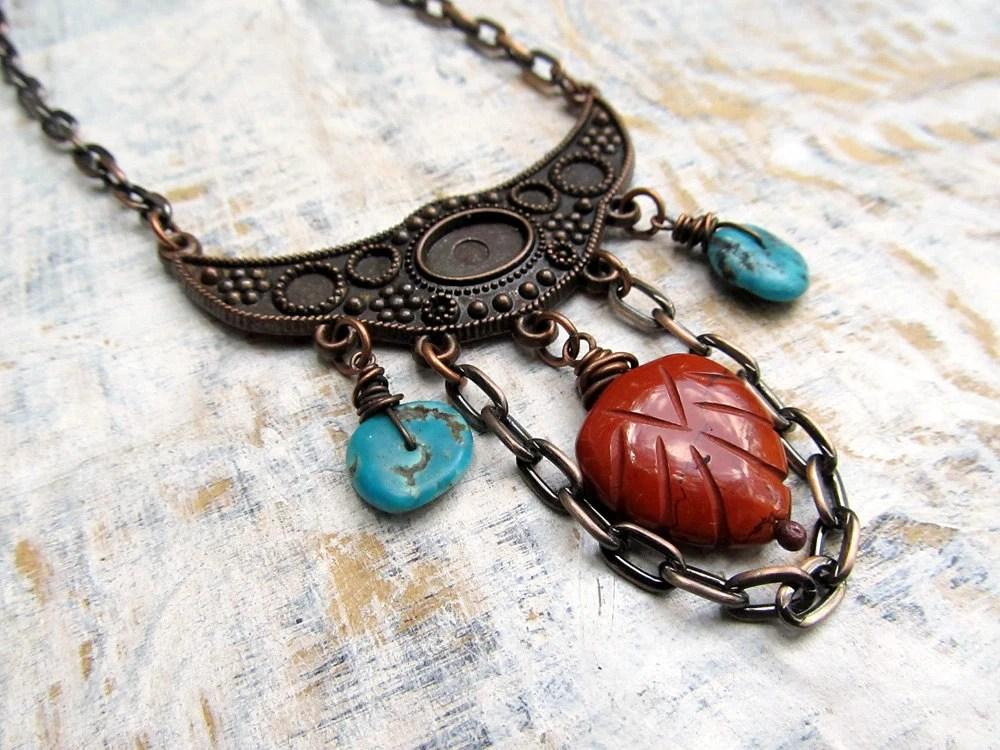 Boho Bohemian necklace Ethnic Bohemian Jewelry