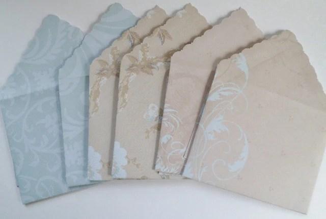 Blue & Brown Stationery Set Notecard Set Blank Card Set - Grubs