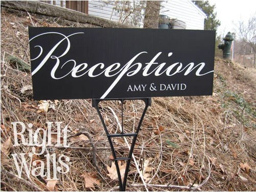 Wedding Reception Sign Custom Sign Personalized Direction
