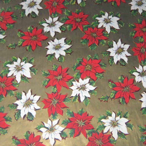 Vintage Christmas Wrapping Paper Wrap With Red