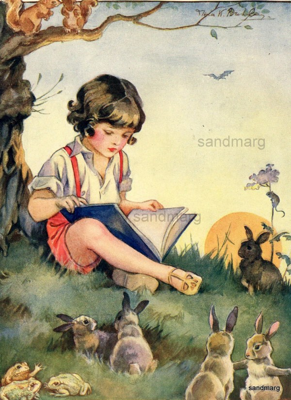 Vintage Storybook Illustration Nina Brisley Boy Sandmarg