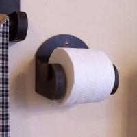 Primitive Bathroom Toilet Paper Holder Simple Farmhouse Charm