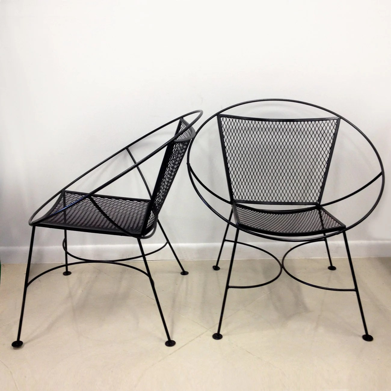Mid Century Patio Chairs Sale Pair Of Salterini Hoop Mid Century Patio Lounge Chairs