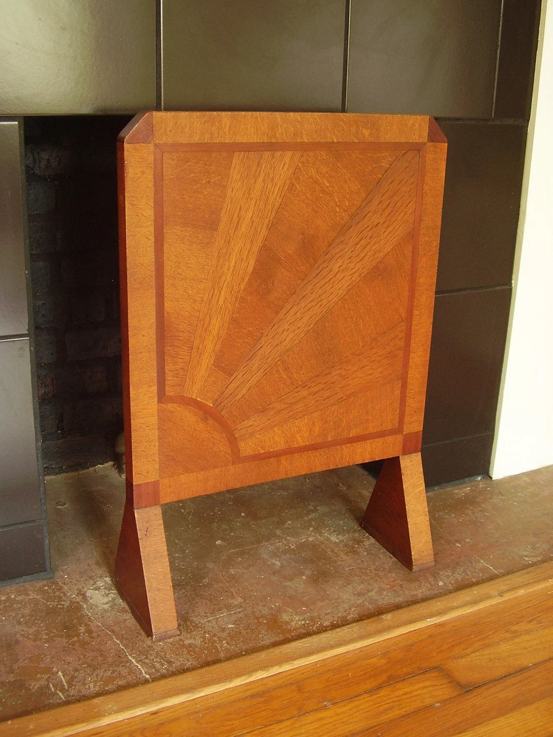 Items similar to SALE Vintage Art Deco Wooden Fireplace