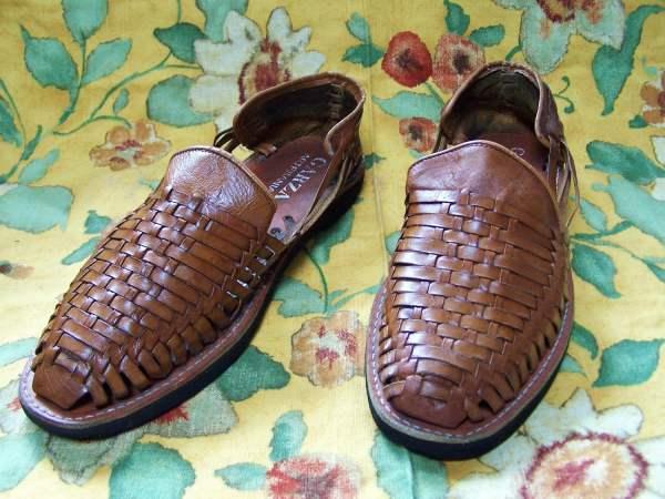 Mens Huarache Sandal Shoe Mexican Woven Leather 12 13 14