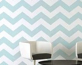 Chevron Allover Stencil - Large scale - reusable stencil patterns for walls just like wallpaper - DIY decor - CuttingEdgeStencils