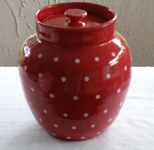Polka Dot Cookie Jar