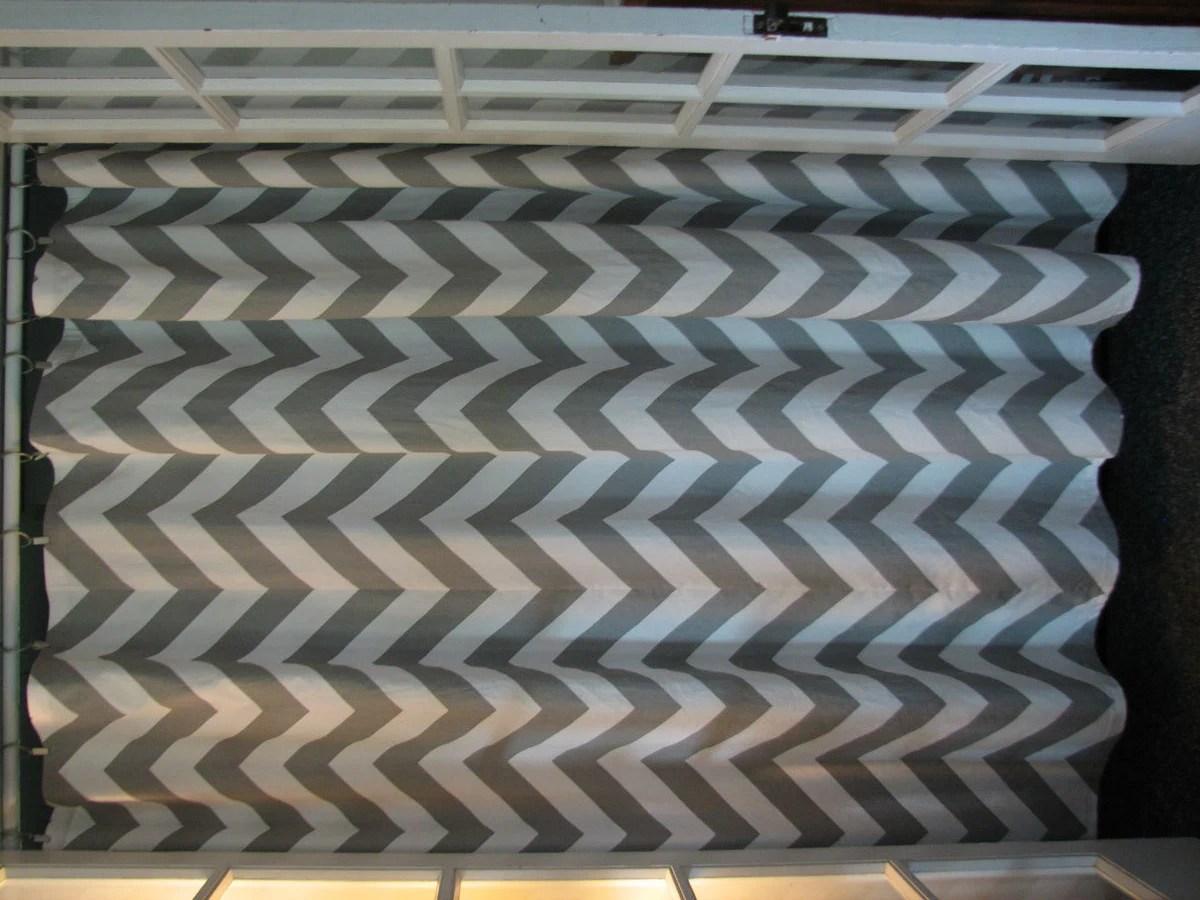 Chevron gray shower curtain - Gray And White Chevron Shower Curtain