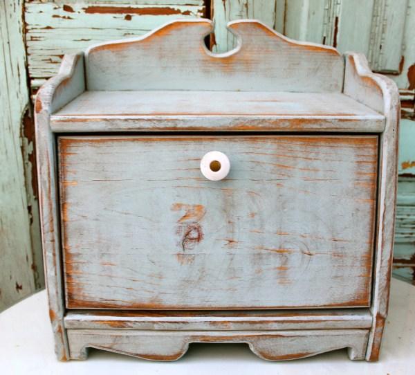 Bread Box Shabby Kitchen Cottage Chic Honeystreasures