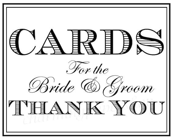 Wedding Signs Thank You Signs Wedding Cards by CharmingPaperShop