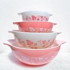 Kitchen Aid Mixer Reviews Skinny Cabinet Vintage Pyrex Pink Gooseberry Cinderella Bowl Set